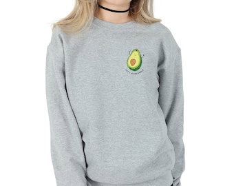 Let's Avocuddle Pocket Sweatshirt Sweater Jumper Top Fashion Grunge Avo Cuddle Avocado