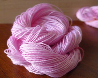 Pink Candy, Support Brussel, hand dyed thread, HDT,Size 20, tatting, crochet, lacemaking, tassel, scrap-booking, pink, craft, cotton, thread