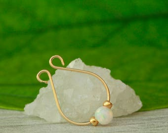 Fake Septum Ring,gold septum jewelry,fake septum hoop,faux septum ring,gold septum ring ,opal septum ring,septum jewelry,clip on septum