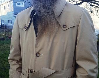 Mens Trench Coat, 80s Coat, Christian Dior Coat, Designer Coat, Tan Coat, Vintage Costume, 80s Costume, Vintage Coat, Christian Dior, Gift