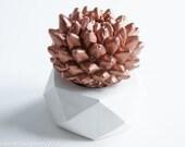 Cactus Sculpture Cactus Gift Succulent Planter Hexagon Geometric Desktop Accessories Modern Home and Office Decor Faux Plant