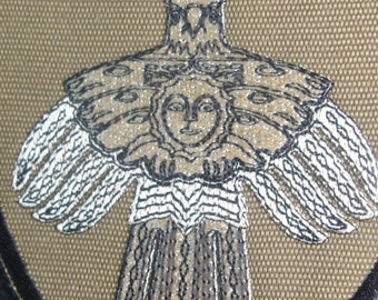Instand download  Solar Bird embroidery design