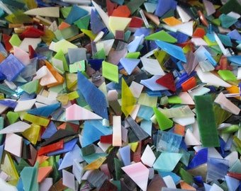 Just Scraps Assortment - Stained Glass Mosaic Tile Scrap Mix