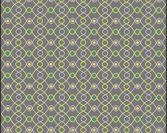 Fabric Spellbound 'Iron Knots' Pat Bravo Art Gallery Fabrics Gray Yellow Green