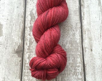 Hand Dyed Super Fine Alpaca and Merino Sock Wool (4ply) in Raspberry Delight