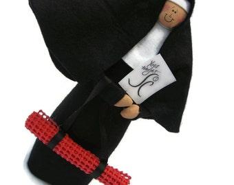 Novelty Nun doll, funny  religious gift, Yoga Lover's Gift, Spiritual Home Decor, Christan Cloth Doll, Fun Religious Decor