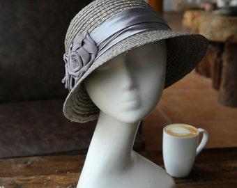 Flowers lafite grass Dome straw hat female Summer hats Bucket hats Sun hat Sun hat