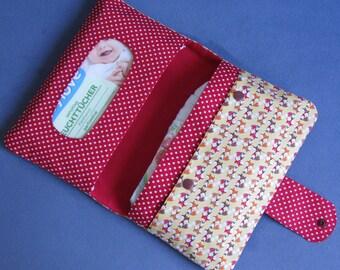 Diaper Clutch / Diaper Bag / Diaper Wipes Bag - Foxes