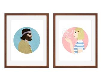 The Royal Tenenbaums Print/Poster Set: Margot and Richie