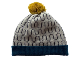 Grey Waves Lambswool Hat