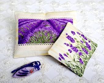 Lavender Sachet Mini Pillow Lavender Print Moth Repellent Wardrobe freshener