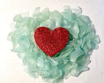Bulk Sea Glass (5lbs) Aqua Blue, Tumbled Sea Glass, Gifts for him, mosaic supplies, jewelry supplies, party favors, beach house decor, love