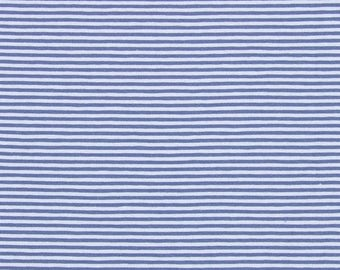 Fabric cotton striped jersey