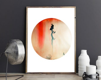 Circle Print , Minimalist , Abstract Print , Modern , Digital Art, Photography , Macro , Art Print , Gift For Her , INK,