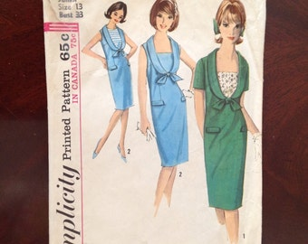 Simplicity 5820 Dress Pattern from 1964 (sleeveless view only)