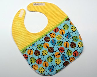 Baby Bib-Baby Girl Bib-Lady Bugs-Baby Shower Gift-Toddler Bib