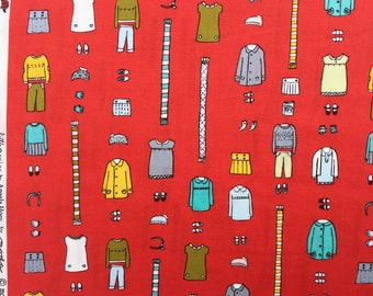 SALE : Little Apples clothing red Aneela Hoey moda fabric Fat Quarter or more
