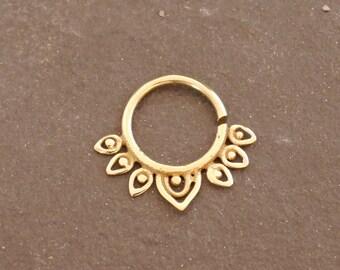 Septum brass ring
