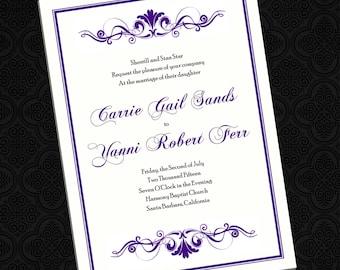 Stattliche Rollen - Hochzeitseinladungen