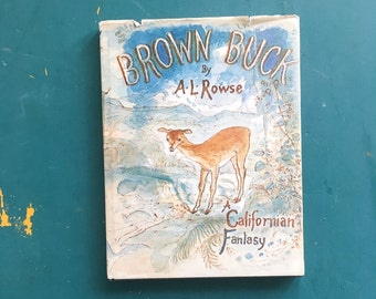 Vintage illustrated bambi book - The Brown Buck, California dreaming, story telling, folk, nature, animals, indie life, midcentury