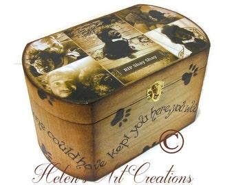 Personalized Pet Memorial Box,  Dog Urn, Pet Memorial Box, Pet Keepsake Box, Custom Pet Box, Photo Collage Box, Dog Memorial, Pet Portrait