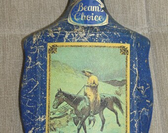 On the Trail Frederic Remington Beams Choice Charcoal Filtered Kentucky Straight Bourbon Whiskey 4/5 Quart Bottle Decanter  James B. Beam
