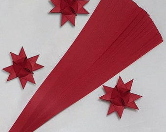 Single Color Dark Red, 5 sizes , 22 inch long, (50 strips)