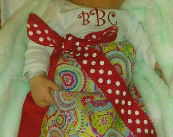Momogrammed Gown, Infant Gown, Baby Gown, Baby Girls' Gown
