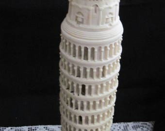 Unique 50's,  Made in Italy, Leaning Tower of Pisa Alabaster Lamp