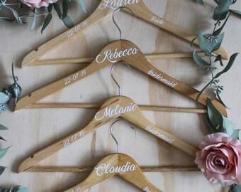 Wedding Hangers, Bridal Party Coathanger, Personalised Hanger, Bridesmaid Dress Hanger, Bridal Party Hangers, Wedding Dress Hanger