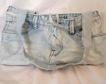 Handmade Jeans Recycled Handbag