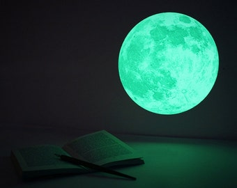 Nightglow Moonlight Wall Decal Sticker 6P [M Package]