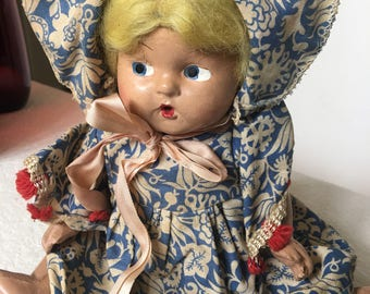Antique Hard Plastic Doll