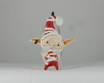 Polymer Clay Santa Ornament