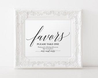 Wedding Favor Sign, Favors Sign, Wedding Favor Printable, Wedding Sign, Wedding Printable, Template, PDF Instant Download #BPB310_75