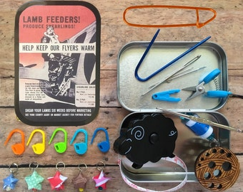 WWII Poster: The Knitter's Tool Tin for your Knit Travel Bag