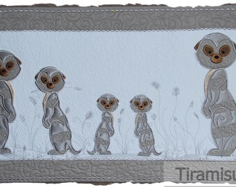 Meerkat Applique in Two Styles for the 5x7inch/130 x180mm Embroidery Hoop