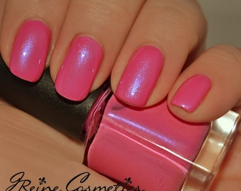 Cotton Candy - Pink with blue shimmer Nail Polish
