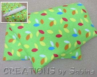 Mais Kissen Heizung Pad Microwavable Pack waschbar Therapie Pad grüne Blätter bunt Flanell Wärmetherapie / sofort lieferbar (537)