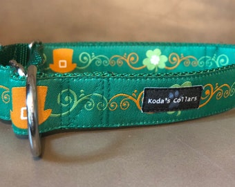 "1"" Leprechaun Hat Martingale Collar"