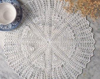 Doily Crochet Pattern, QUICK Fan Doily Pattern, Thread Crochet Pattern, Summer Crochet Pattern, INSTANT Download Pattern in PDF (1704)