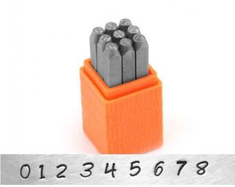 Bridgette Numbers Metal Stamp Basic Set - ImpressArt - 3mm Number Stamps
