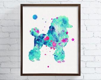 Watercolor Dog, Poodle Art Print, Poodle Painting, Poodle Poster, Dog Painting, Dog Art Print, Watercolor Dog, Dog Wall Art, Dog Wall Decor