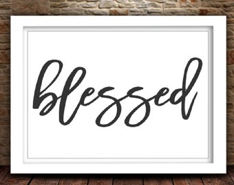 Blessed SVG| Blessed svg Design | Monogram svg Files | Silhouette Files | Cricut Files | SVG Cut Files | PNG Files