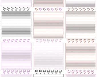 Valentine Paper Pack - Heart - LOVE - PDF Printable