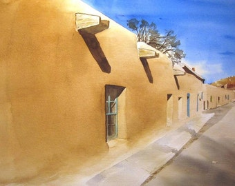 Canyon Road - original watercolor painting