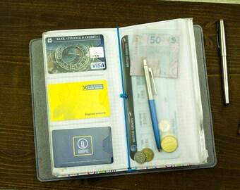 PVC Zip Folder Pocket Standard Size and Passport Size for Midori Traveler's Notebook