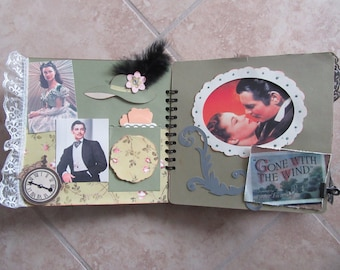 Gone with the Wind Scrapbook with FREE Shipping*Classic Movie Scrapbook*Movie Scrapbook*