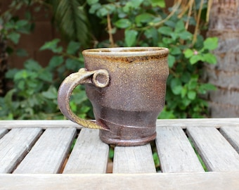 Large Wood Fired Swirl Mug