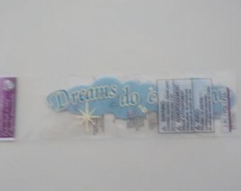 Disney Princess Dreams do come true Dimensional Scrapbook Stickers